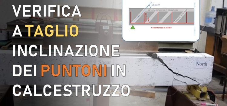 Verifica a taglio di travi in cemento armato: quale inclinazione θ usare per i puntoni compressi?
