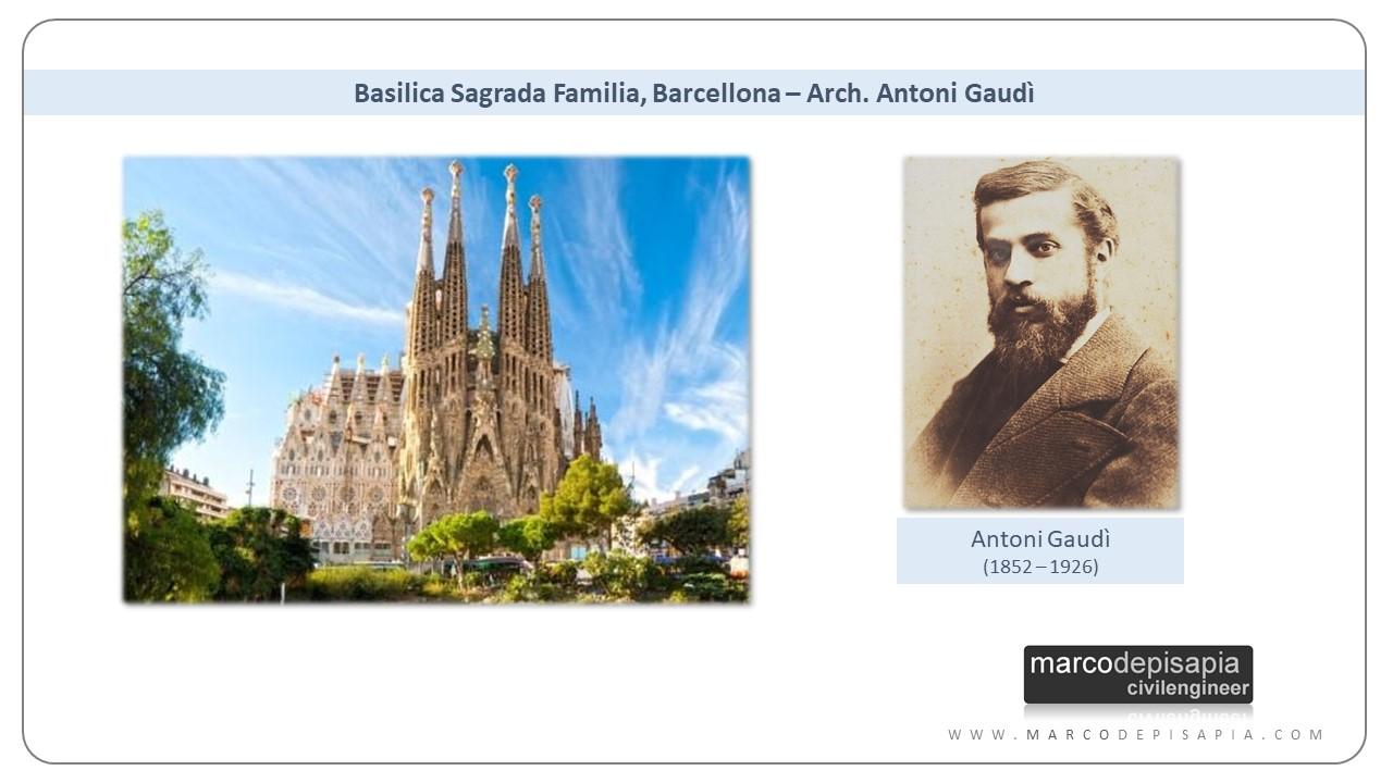 archi in muratura: sagrada familia di Antoni Gaudi