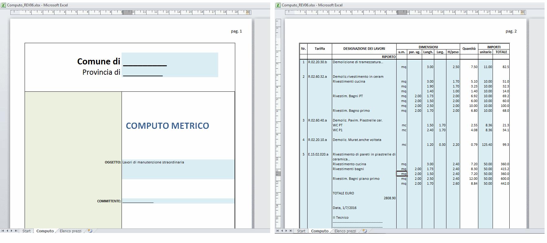 How much la contabilit dei lavori nella tua pen drive - Computo metrico per realizzazione di un bagno ...