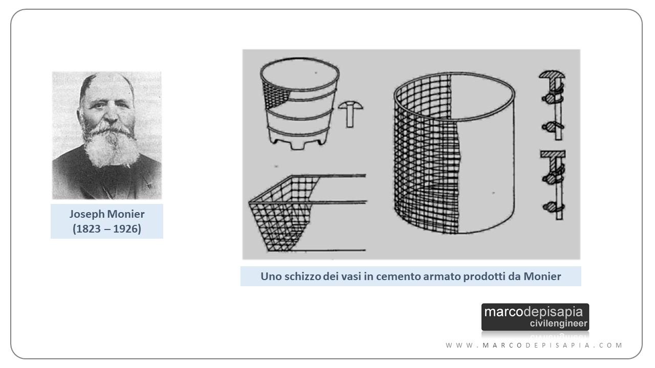 nascita del cemento armato: Joseph Monier