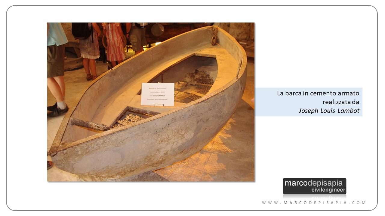 nascita del cemento armato: barca di Lambot