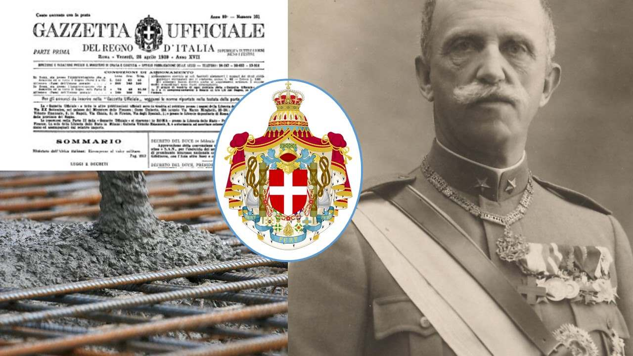 Il cemento armato ai tempi di sua maestà: il Regio Decreto del '39