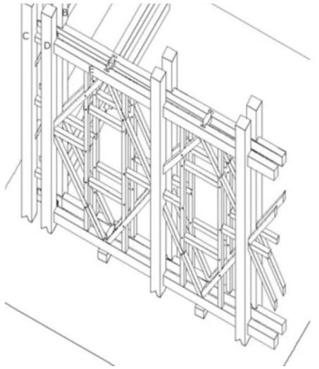 telaio legno casa baraccata