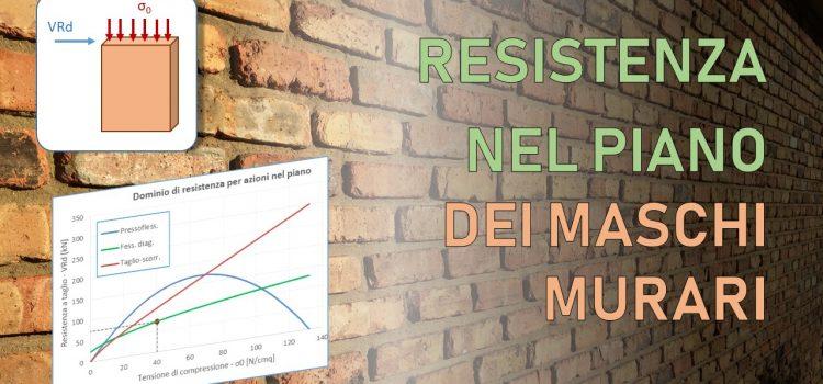 Resistenza a taglio della muratura: meccanismi di rottura per azioni nel piano [NTC2018 e Circ. 2019]