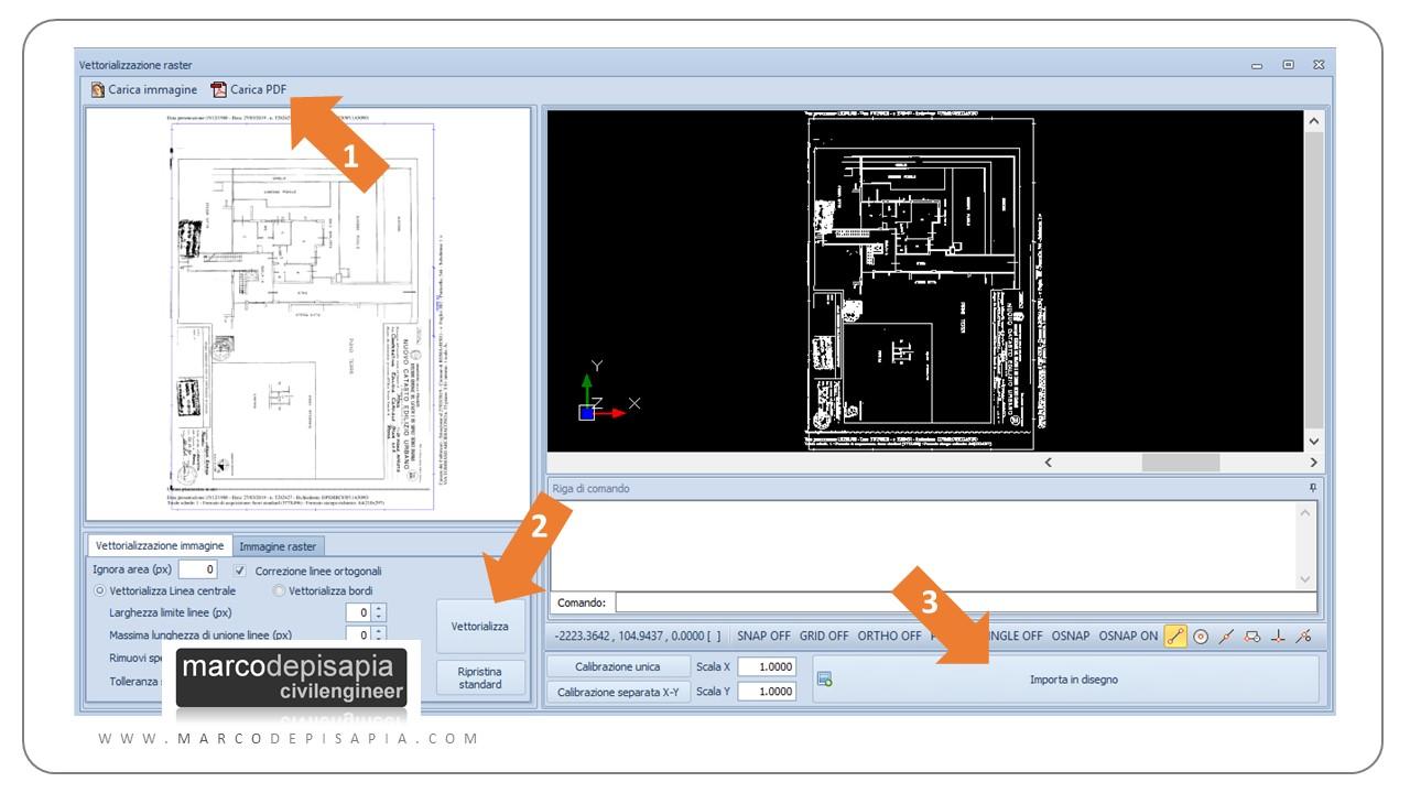 vector e raster processo per convertire pdf in dwg