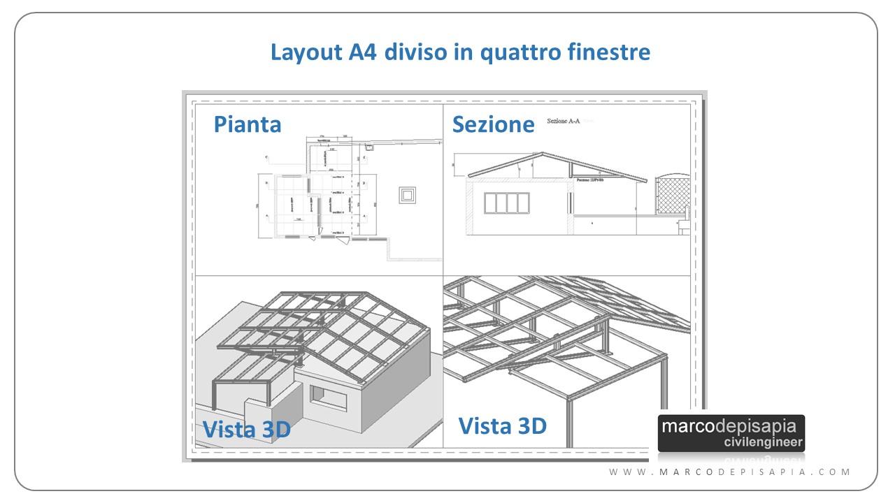 layout autocad: esempio finstre