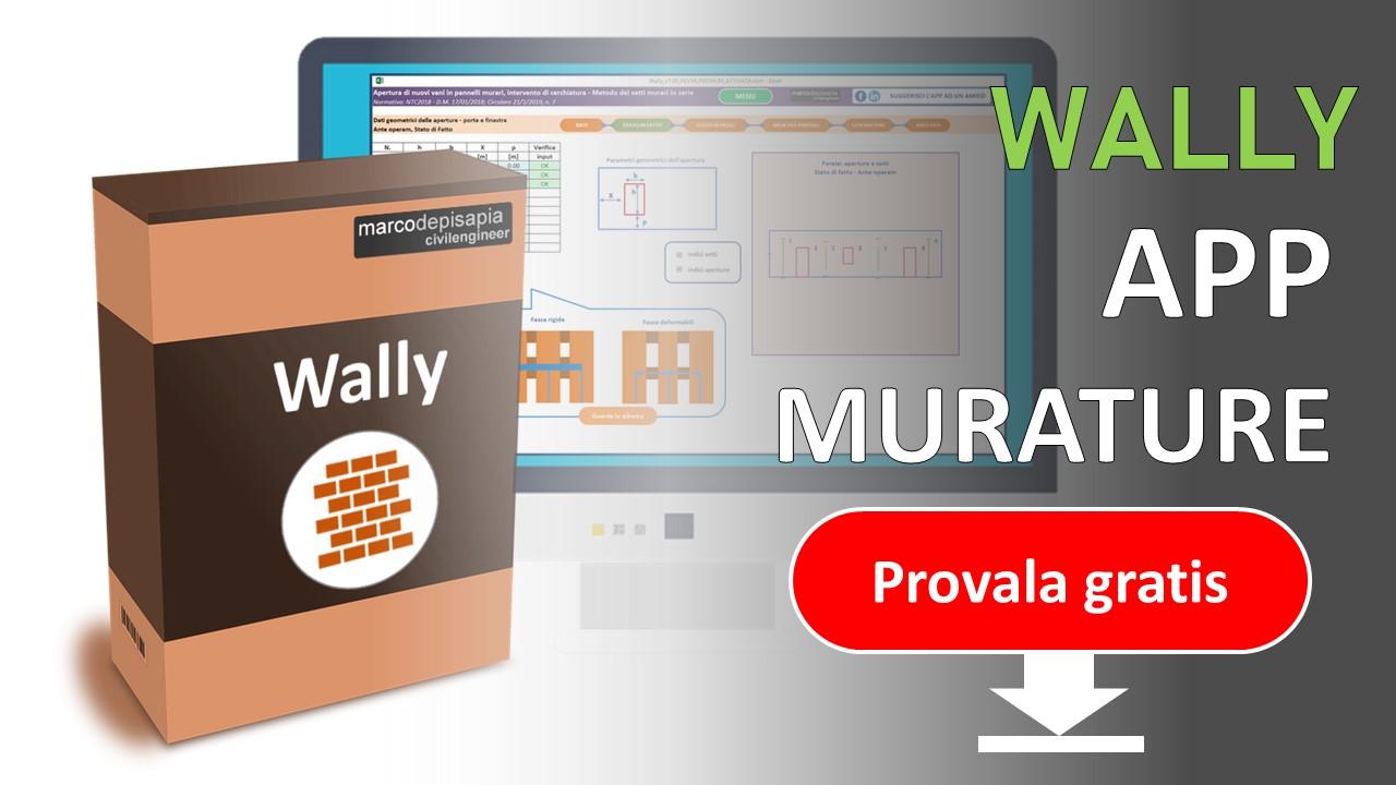 Wally: l'app per l'analisi dei panelli in muratura portante. Scarica la versione base gratuita