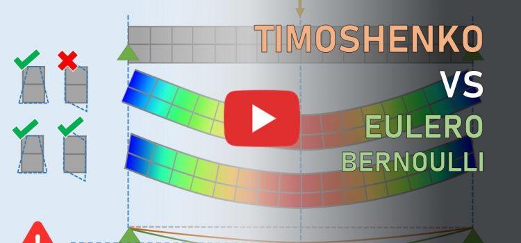 Timoshenko ed Eulero-Bernoulli: modelli a confronto (teoria tecnica della trave)