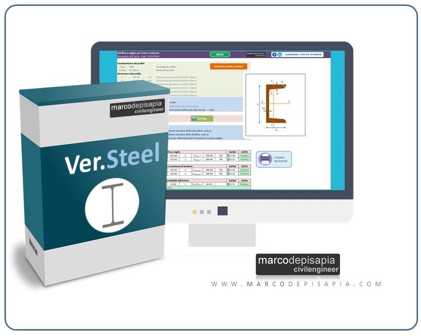 ver.steel verifica sezioni in acciaio