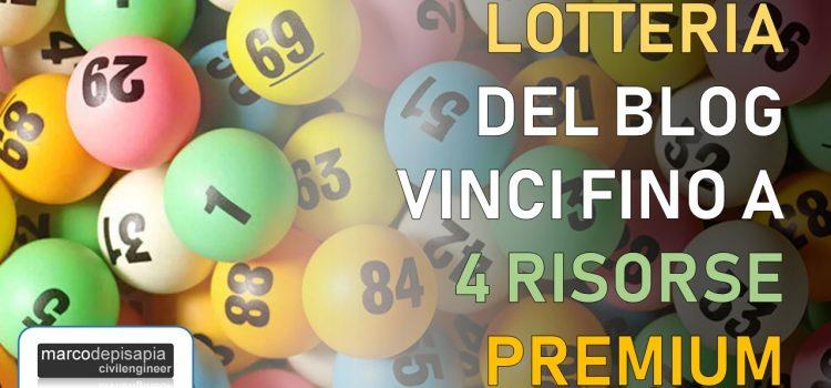 Lotteria del blog 2021: vinci fino a 4 risorse premium per il calcolo strutturale
