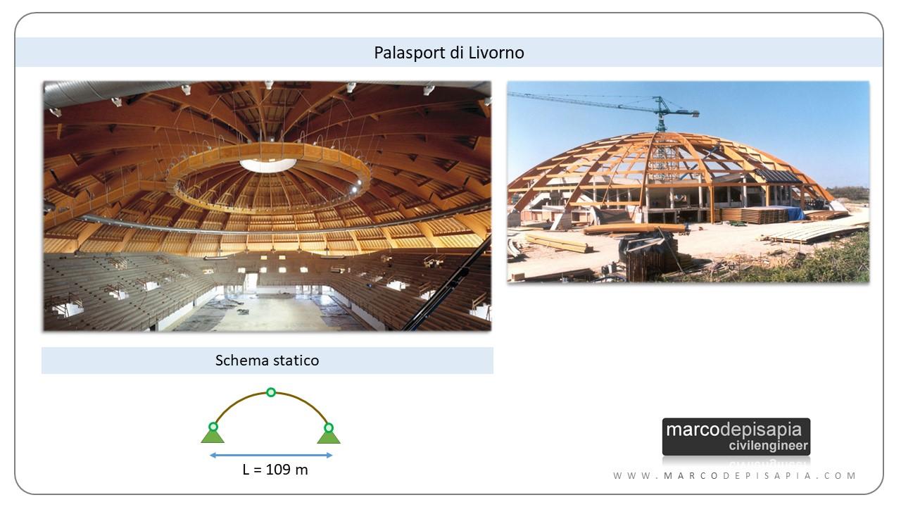legno lamellare: esempio palasport Livorno