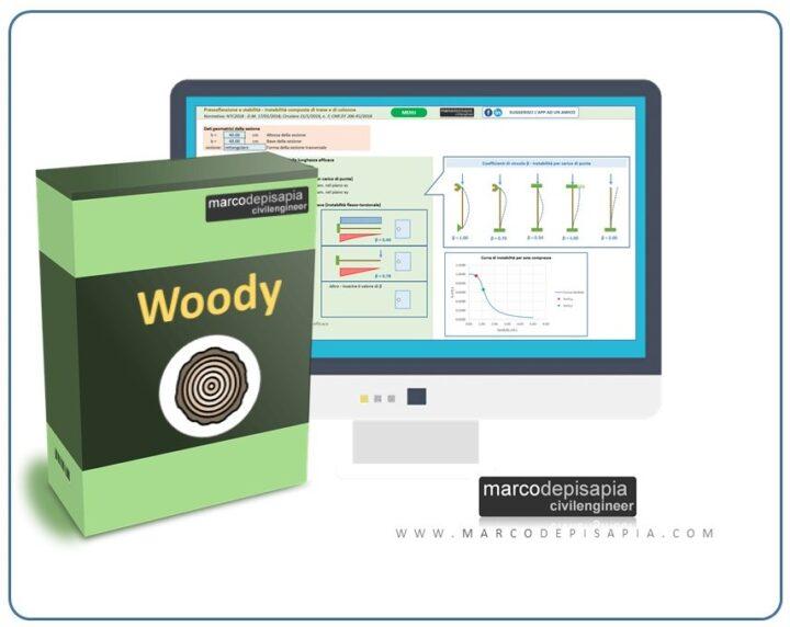 woody app per progetto e verifica di legno massiccio e lamellare