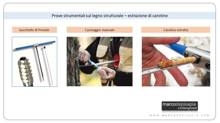 legno strutturale esistente: succhiello di pressler