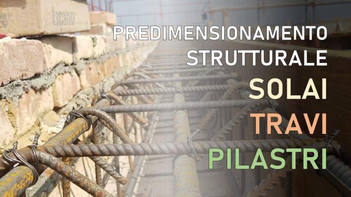 predimensionamento strutturale