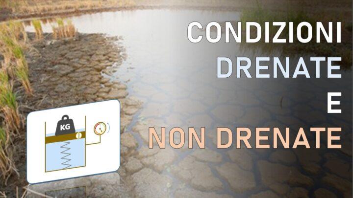 condizioni non drenate dei terreni di fondazione